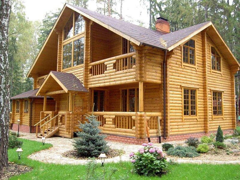 Фото частные дома из дерева
