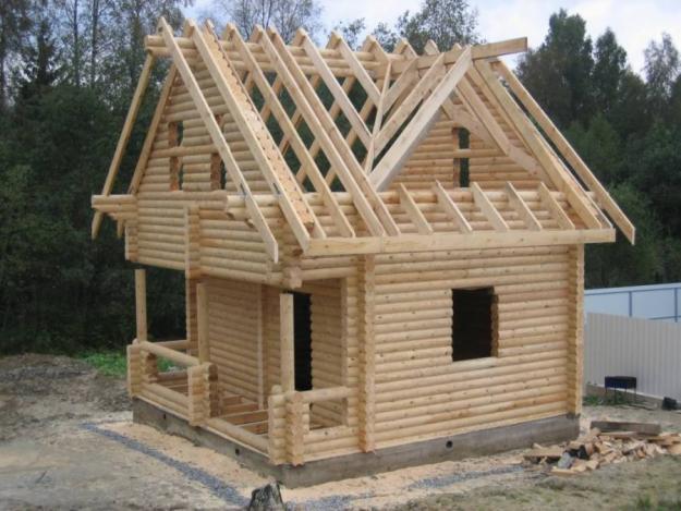 Строительство домов из оцилиндрованного бревна своими руками