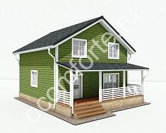 Каркасный дом по проекту ЛАДОГА + участок 10 соток