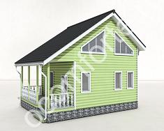 Каркасный  дом по проекту НИВА + участок 10 соток