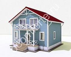 Каркасный дом по проекту ЛИПЕЦК + участок 10 соток