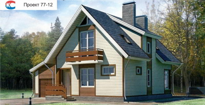 Проект дома 77-12