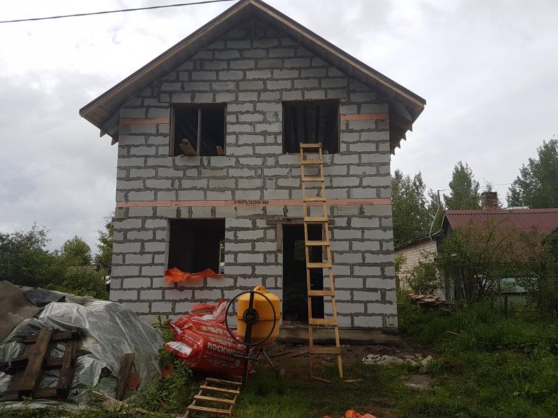 Строительство дома из газобетона в п. Панковка
