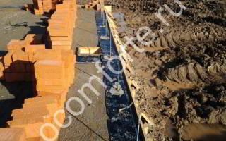 Строительство цоколя на монолитной плите - фото