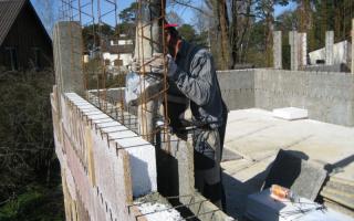 Заливка бетона и внутренний утеплитель