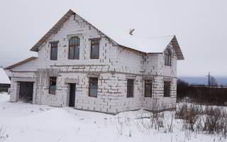 Дом из газобетона в Волотово - фото
