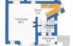 Проект дома 23-11 - план 1 этажа