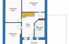 Проект дома 42-11 - план 2 этажа