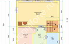 Дом БОРОВИК - план 1 этажа