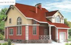 Проект дома 22-11 - главный вид