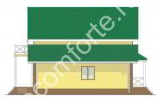 Проект дома БЕРН - 4 фасад