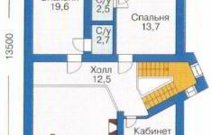 Проект дома 23-11 - план 2 этажа