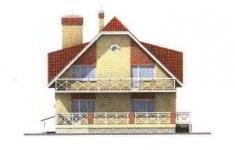 Проект дома 27-11 - 3 фасад