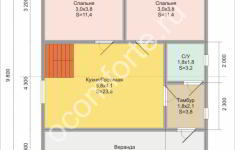 Дом НЕВАДА - план 1 этажа