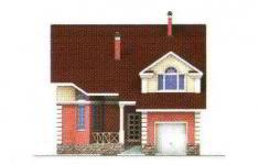 Проект дома 22-11 - 1 фасад