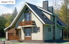 Проект дома 77-12 - главный вид