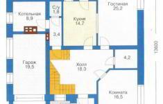 Проект дома 30-11 - план 1 этажа