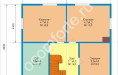 Дом КЛЕН - план 2 этажа