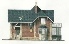 Проект дома 71-12 - 2 фасад