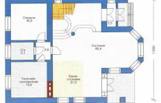 Проект дома 39-11 - план 1 этажа