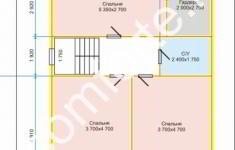 Дом ХУТЫНЬ - план 2 этажа