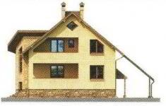 Проект дома 23-11 - 3 фасад