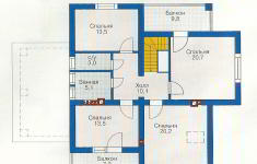 Проект дома 39-12 - план 2 этажа