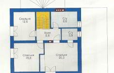 Проект дома 45-12 - план 2 этажа