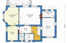 Проект дома 26-11 - план 1 этажа