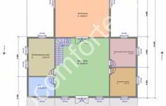 Проект дома АРХАНГЕЛЬСК - план 1 этажа