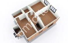 Дом ХУТЫНЬ - 3D план 2 этажа