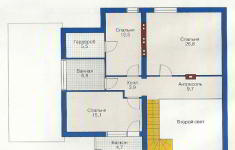 Проект дома 35-12 - план 2 этажа