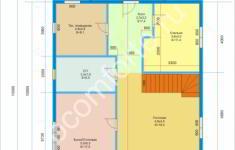 Дом СВЯТОГОР - план 1 этажа