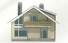 Проект дома 44-12 - 2 фасад