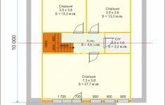 Дом БАЛЧИК - план 2 этажа