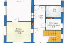 Проект дома 41-11 - план 1 этажа
