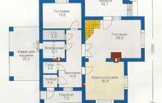 Проект дома 39-12 - план 1 этажа