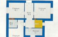 Проект дома 71-12 - план 2 этажа