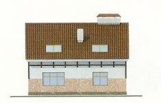 Проект дома 35-12 - 1 фасад