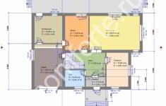 Проект дома БЕРН - план 1 этажа