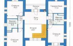 Проект 25-11 - план 2 этажа
