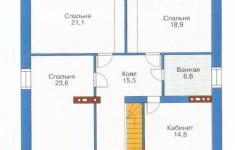 Проект дома 33-11 - план 2 этажа
