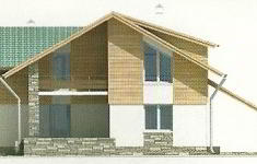 Проект дома 39-12 - 3 фасад