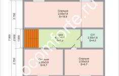 Дом УЮТ - план 2 этажа