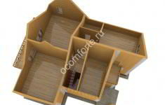 Дом СКАЗКА - 3D план 2 этажа