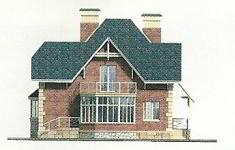 Проект дома 71-12 - 3 фасад