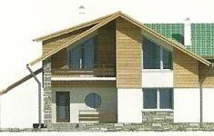 Проект дома 39-12 - 1 фасад