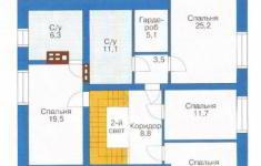 Проект дома 30-11 - план 2 этажа