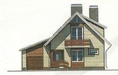 Проект дома 77-12 - 4 фасад