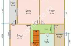 Дом ЛОНДОН - план 2 этажа